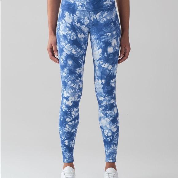 45977004bf lululemon athletica Pants - Lululemon blue tie dye wunder under leggings